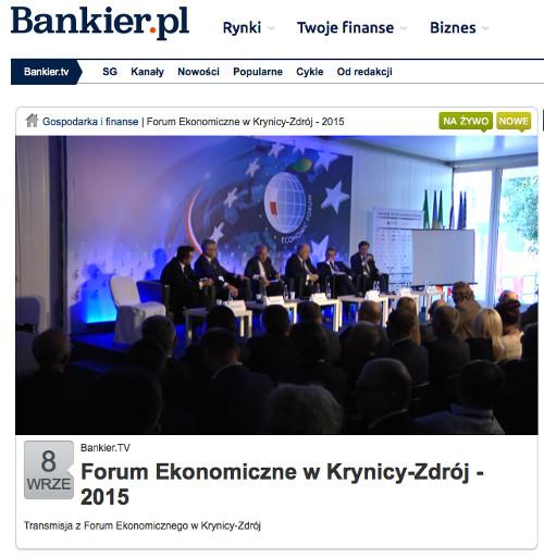 Forum Ekonomiczne w Krynicy-Zdrój - 2015