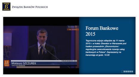 Forum Bankowe 2015 Warszawa